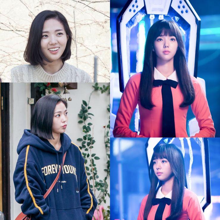 Chae Soo Bin como Jo Ji Ah/Aji-3 em I'm Not A Robot k-drama viki