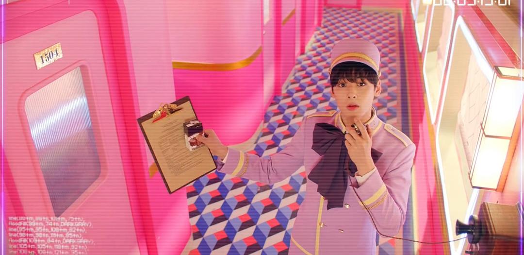Eunwoo - MV de Mysterious, Hellovenus.